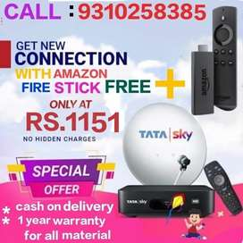 # TATA SKY NEW DTH HD CONNECTION WITH FIRE STICK ONLY RS. 1151