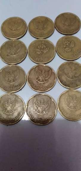 Uang koin Rp 500 TH 1991