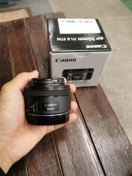 lensa fix 50mm stm for canon ada box