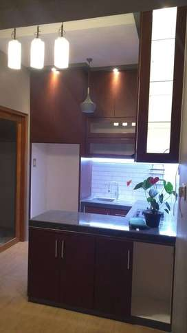 fullset kitchen set sudut atas bawah cabin buffet DAP