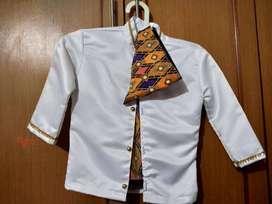 Pakaian anak cowok adat Lampung usia 4-6 tahun