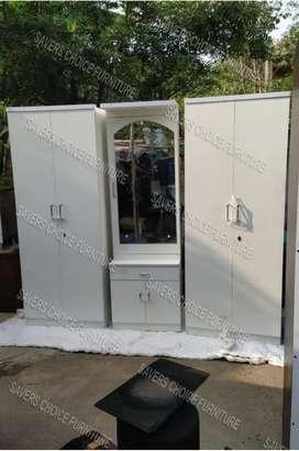 White Wardrobe With Dresser