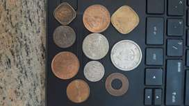 10 Rare Coins of British India period very Rare collection