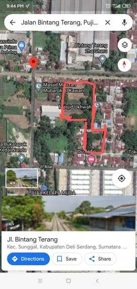Dijual sebidang tanah dekat Bintang Terang Medan