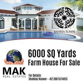 6000,Farm House,For Sale,Bahria Town,Karachi