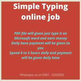 Fraud less online job are providing for students Simple typing jobs