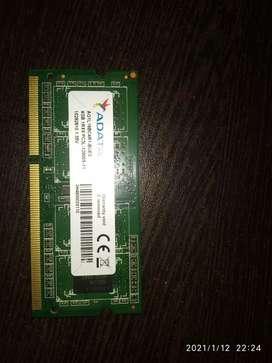 Adata 4gb DDR3 Laptop Ram