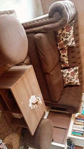 Sofa minimalis coklat elegan