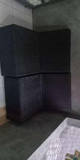 Sofa rotan sintetis,rangka stainless