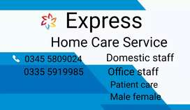 Experienced & reliable domestic staff available male and female 24/7