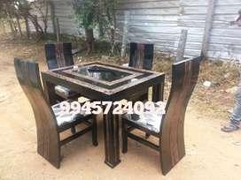 Wooden daining Table 4cher full sath .sprai finishing.available