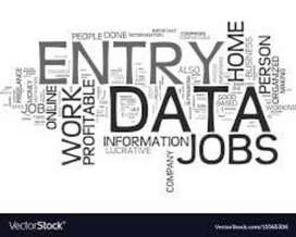 Data entry work simple English typing work at home