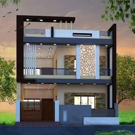 दो मंजिला मकान, मात्र - 55.99 लाख, 6 BHK