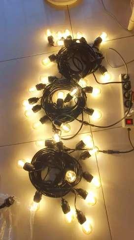 Fiting lampu renteng outdoorr(waterprooff)