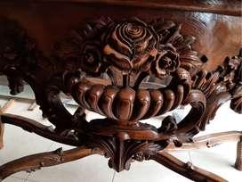 meja rias kayu jati UKIRAN, free ongkir