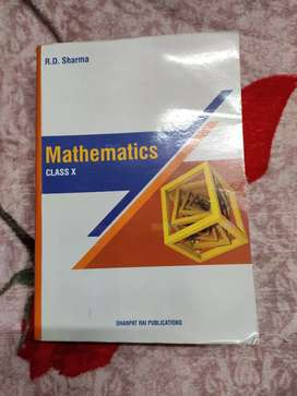 Class X Mathematics book by Dr. R. D. Sharma