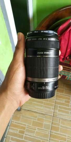 Lensa Panjang Tele Canon 55 250mm is