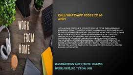 HANDWRITING JOB-WORK FROM HOME-OFFLINE TYPING JOB