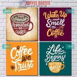 Poster COFFEE QUOTES Hiasan Dinding Pajangan Cafe