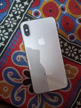iPhone X 64 GB silver fresh condition