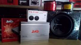 Subwoofer 12 inchi+Box sub+Power 4 Chnl+Tweter+Instalasi+Psang