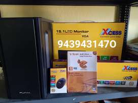 BRAND NEW DUALCORE/CORE2DUE DESKTOP PC SET WITH 1YR WARRANTY AT 6999/-