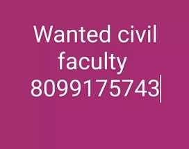 Faculty urgent  requitement