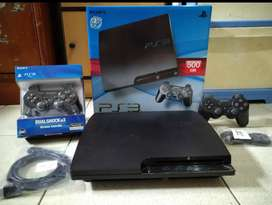 Mesin PS3 Slim mantaap FULLSET (2 Stick) Bonus 100 game