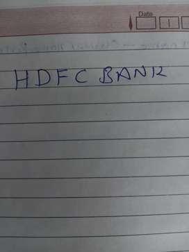 Relationship officer HDFC Bank Ltd