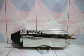 Knalpot Veloce Exhaust System (Slip On) Ninja 250 Fi/Z250, R25, MT25