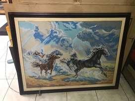 jual lukisa kaligrafi kuda