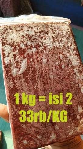 Cacing Beku, Cacing Darah (Bloodworm) - 1KG (2 Lempeng)