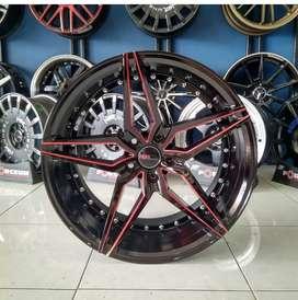 Velg Mobil BMW, Landrover dll Type Manchester HSR R20 Black Red Lips
