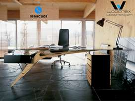 Best Modular Design Office Table,cot Pine Wood Furniture with Warranty
