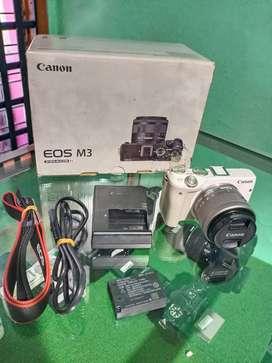 kamera mirrorlless canon M3 mulus cocok buat NGEvlog