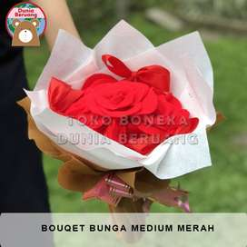 Bouqet Bunga Medium Merah