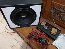 Subwoofer audiomate 12 inch + power ads