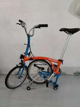 Sepeda lipat Element pikes 5 speed Orange - Blue