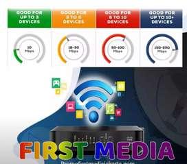Firstmedia super keren wifi internet keluarga