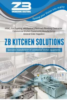 Cafe fast food commercial & industrial kitchen