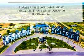 Discount rate 7 Marla overseas Files available blue World City