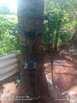 Coconut tree climber machine