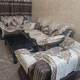 Seven seater sofa set with center table