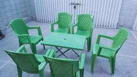 Plastic chairs & Plastic Table for sale at 30% Off Orignal Boss Chairs