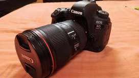 Canon 6D Mark ii + 16-35 L Lens warranty, 2 battery, bill with box