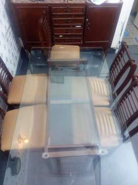 Dinning Table Set (Glass)
