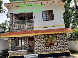 7 Cent Plot With 1750 Sq. Ft 4BHK House In Anjalumood