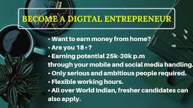 Work From Home Job Opportunity - A Digital Platform