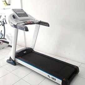TL-123 Big Electrik Treadmill 3 hp (hitam & putih) Fitness Olahraga
