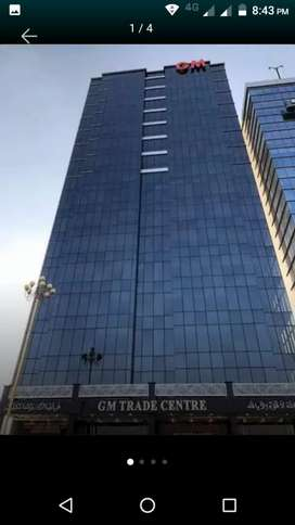 Office available for rent on main Jinnah avenue
